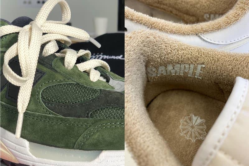 jjjjound justin saunders new balance 992 green reebok club c white tan release date info photos price