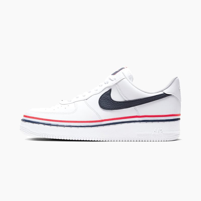 Nike Air Force 1 07 Lv8 White Red Obsidian Hypebeast Drops