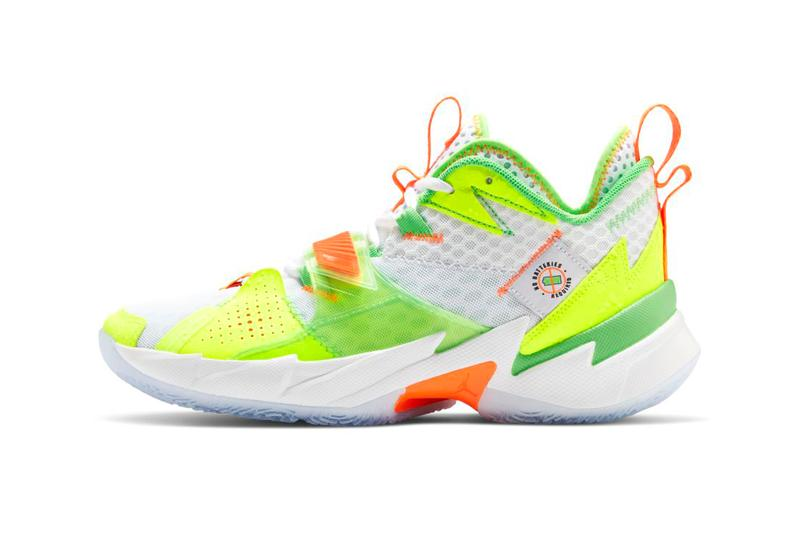 "Jordan Why Not Zer0.3 ""Splash Zone"" PE First Look Release Information Footwear Basketball Super Soaker Inspired Childhood Memories Russell Westbrook Court Bold Design Sneakers Drop Dates Cop Online"