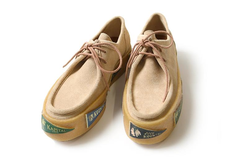 KAPITAL Leather SURF Wallaby Release shoes footwear crepe Sole thick shoes japan sneakers moc toe