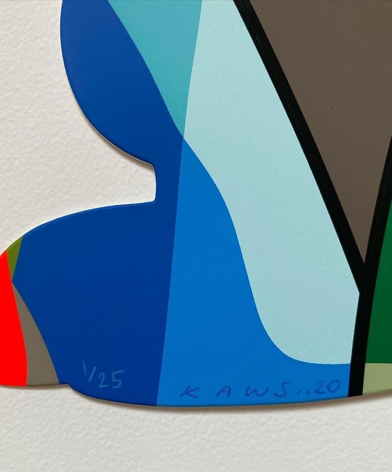 kaws free arts nyc limited shaped prints artworks editions