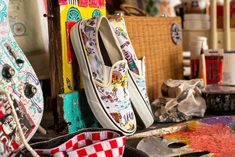 Kide Baharudin Vans Collection Release custom culture winner collaboration Classic White Marshmallow Authentic SF Slide On