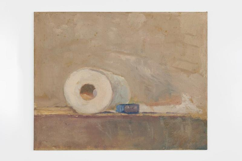 Kinkade Family Foundation & NADA Print Release Toilet Paper Roll Painting Thomas Kinkade Oil on Canvas 'Untitled (Toilet Paper)'