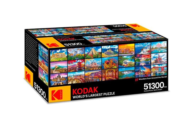 Kodak Premium Puzzle Presents The World's Largest Puzzle 51300 Pieces 27 Wonders from Around The World Info Buy Price Release