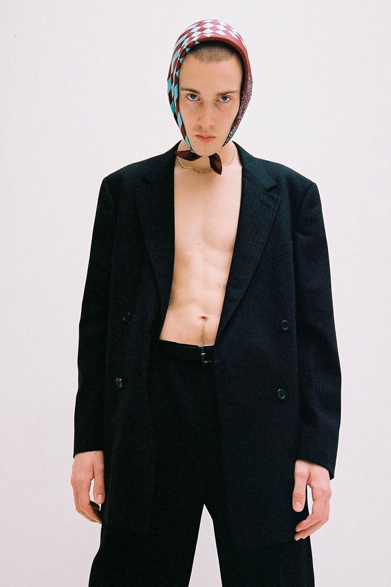 LASTFRAME FW20 Collection Lookbook fall/winter 2020 knit bags scarves accessories silk polyester yarn nana-nana takanohiro okude