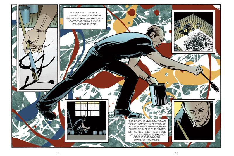 Laurence King Jackson Pollock Graphic Novel 'Pollock Confidential: A Graphic Novel' Comic Strip Book Painting Canvas Dripping