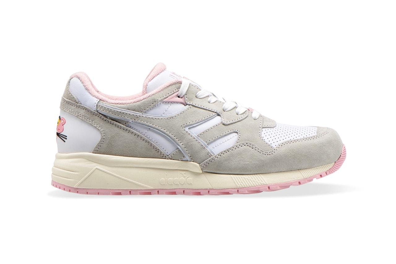 lc23 diadora n9002 pink panther cartoon white grey release date info photos price