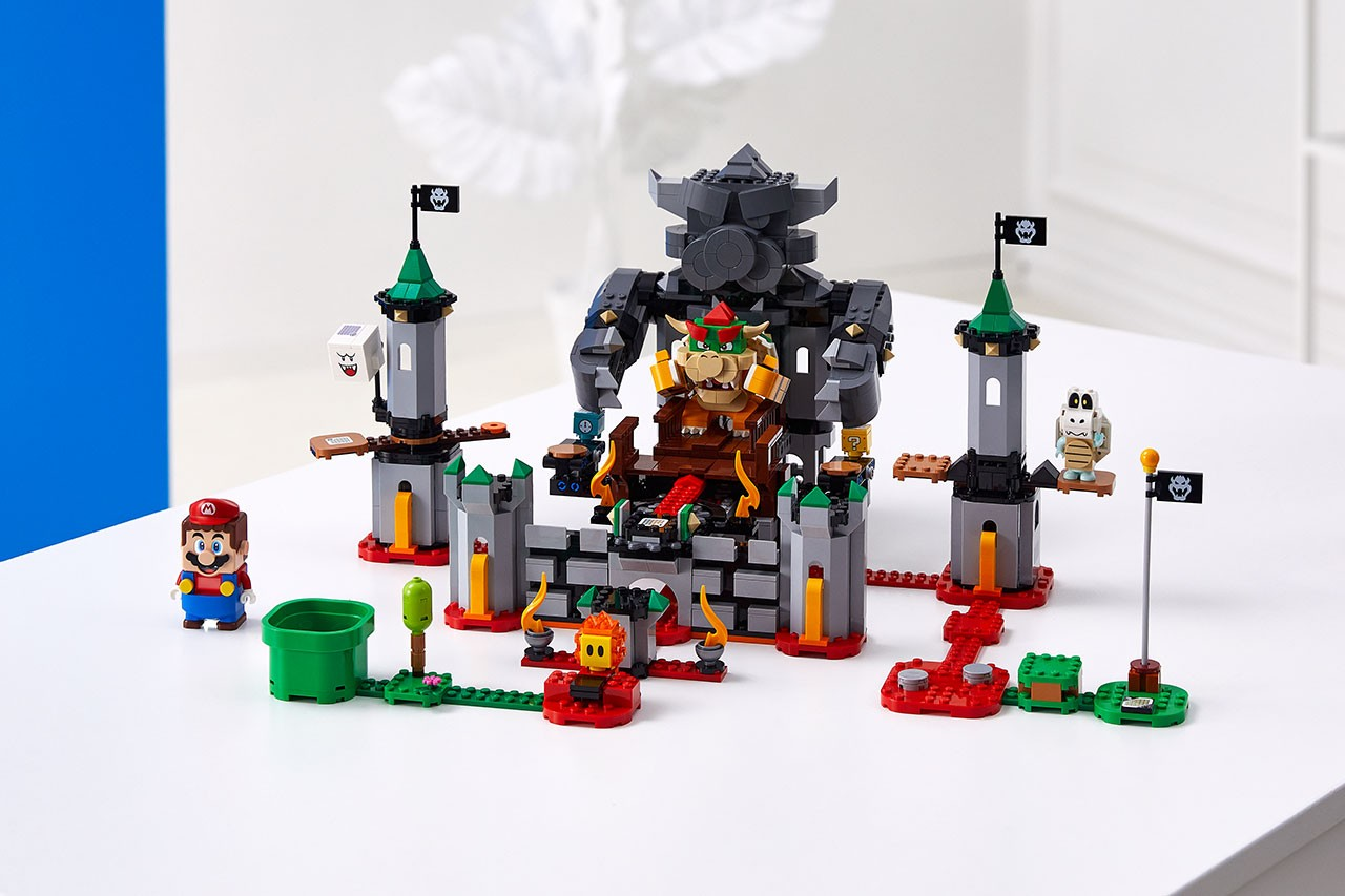 "レゴ 任天堂 × LEGO® によるブロックトイ ""レゴ スーパーマリオ""第一弾が発売 LEGO Super Mario Adventures Kits Closer Look reveal piranha plant bowser video electronic expansion august 1 2020 release date buy pre order dry bones goomba cloud pipe baby koopa figure"