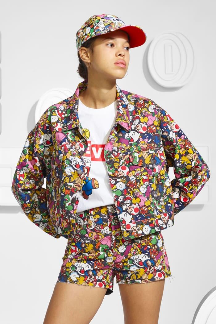levis super mario nintendo collaboration capsule release info denim overalls faded jacket pants mens women