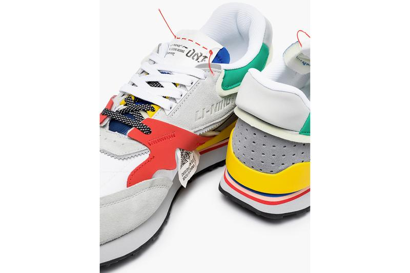 LI-NING Multicolor Paneled Moment Sneakers Release Info gray colorblocking suede flex groove midsole browns fashion footwear retro running shoes drop date price 15045777 / AGCP3131 15045788 / AGCP3134 trainers