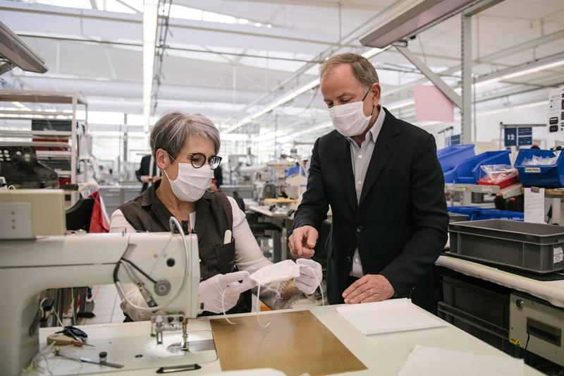 Louis Vuitton French Workshops Non-Surgical Alternative Mask Production Sewing Machines
