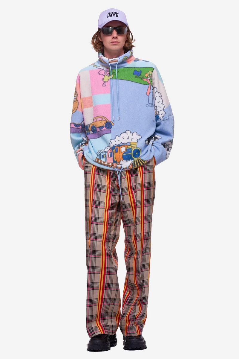 Martine Rose Cartoon Fleece Pullover sweatpants pants track graphics menswear streetwear spring summer 2020 collection british england made in portugal