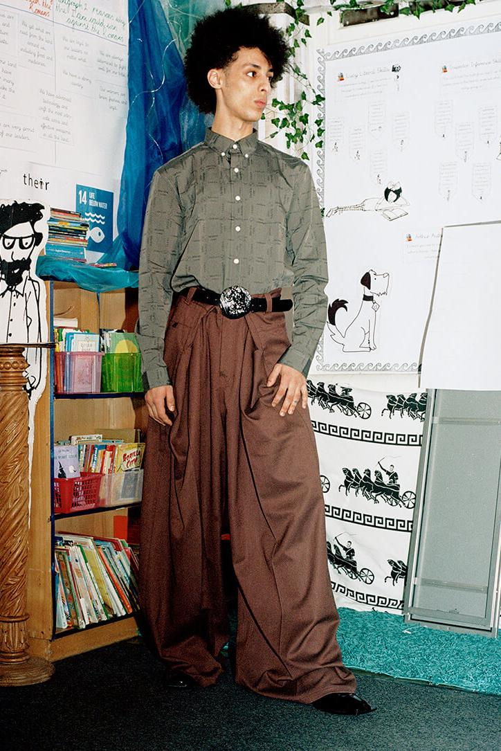 Martine Rose Farah Spring Summer 2020 Lookbook menswear streetwear collection capsule united kingdom england polo blazers shirts button up pants trousers long sleeves graphics