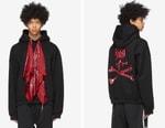 mastermind WORLD Crafts Bold Oversized Bandana Hoodie