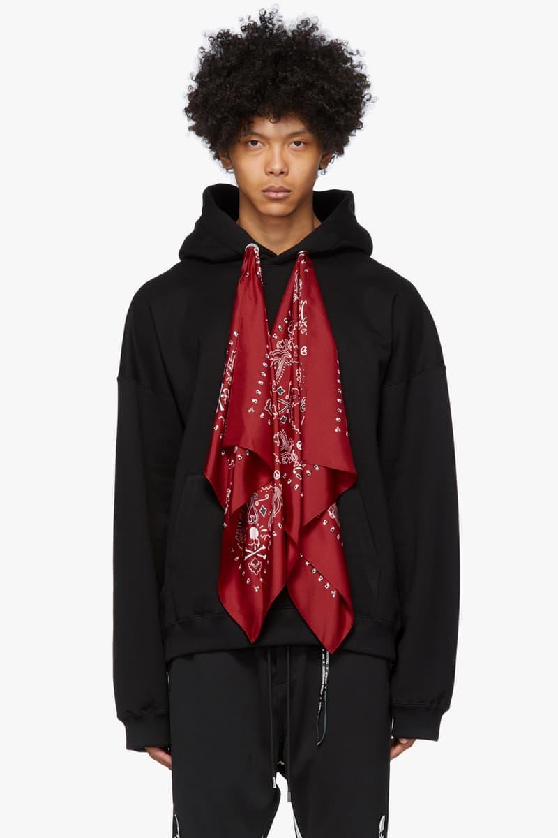 mastermind WORLD Black Red Boxy Bandana Hoodie menswear streetwear spring summer 2020 collection masaaki homma japanese designer imprint brand mastermind japan