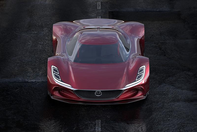 Mazda RX-10 Vision Long Tail Concept Car Imagined by Maximilian Schneider Hydrogen Powered Hypercar 1030 HP Low Slung Design Render First Look Automotive Design Futuristic Japanese Motors Rotary Engines