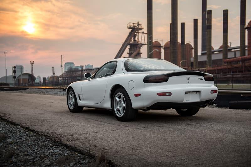 White Mazda RX-7 FD Bring a Trailer Auction Info Rare JDM Sports Car Wankel Engine Keisuke Takahashi Initial D