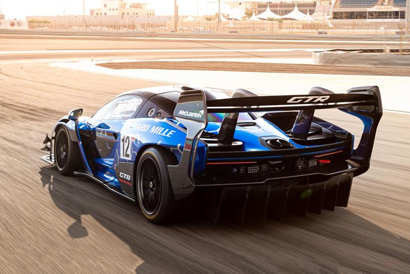 McLaren Senna GTR Test Drive Video giant wing explained tech club testing inaction racetrack car carbon fiber episode 2 youtube Bahrain International Circuit