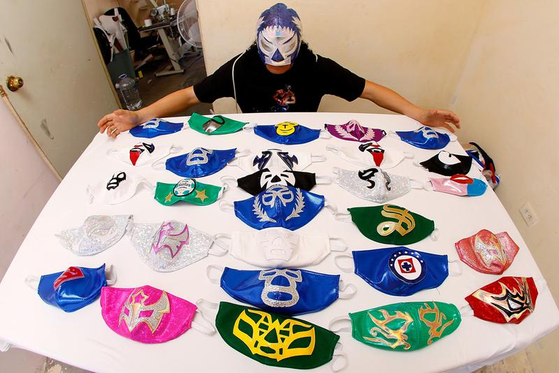 Mexican Wrestlers Luche Libre Face Mask Production El Hijo del Soberano