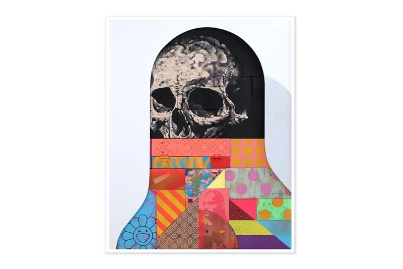 Michael Reeder 'Beef Teef' Print Release Pigment Print Edition Haruki Murakami Flower Skull Polka Dots Stripes Hashimoto Contemporary