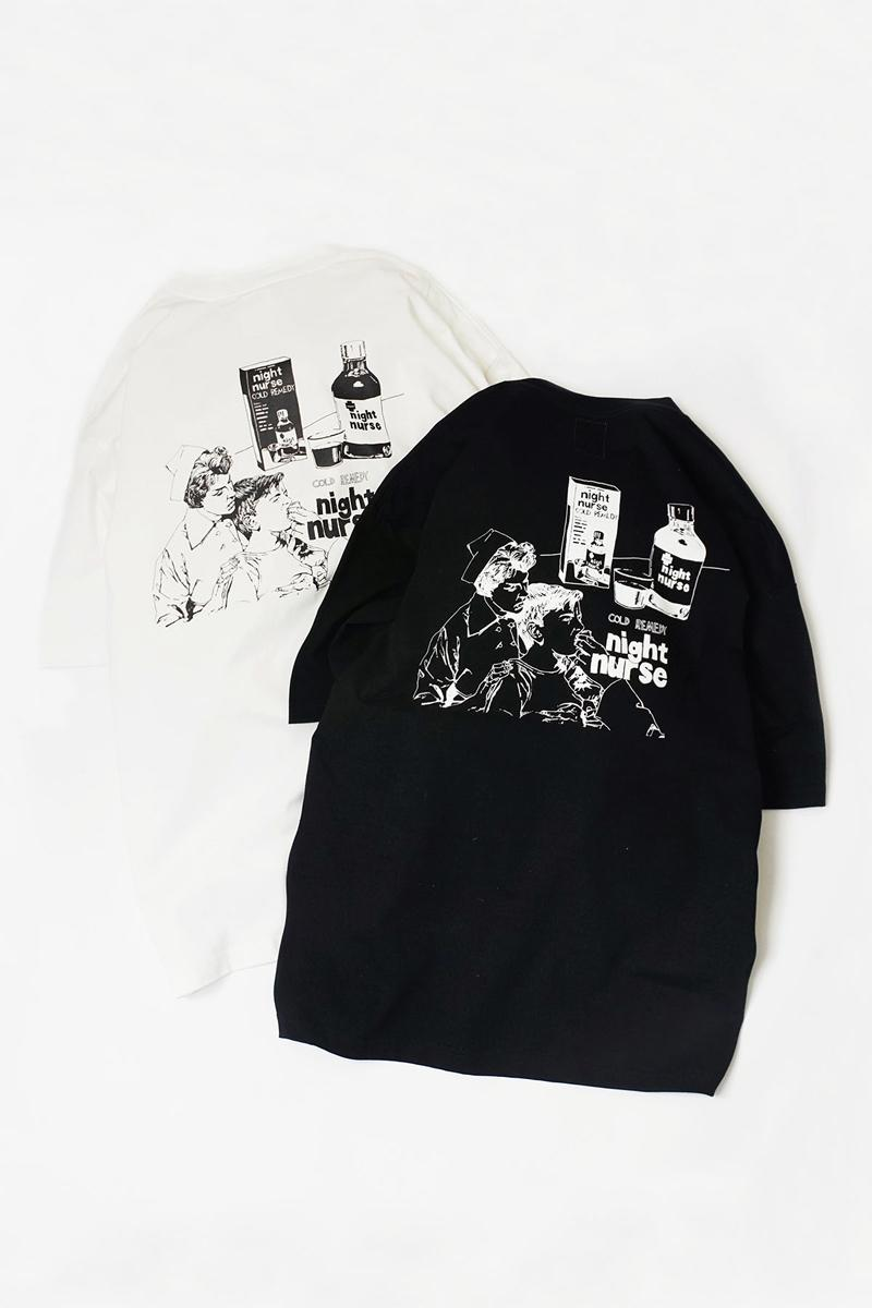 RYOGA x NAME. Summer 2020 Capsule Collection Release Info T-shirts Collared Short Sleeves Long Sleeves Knitwear Crewneck Sweaters Cardigans Illustrations Black White Night Nurse Cold Remedy Missing Person