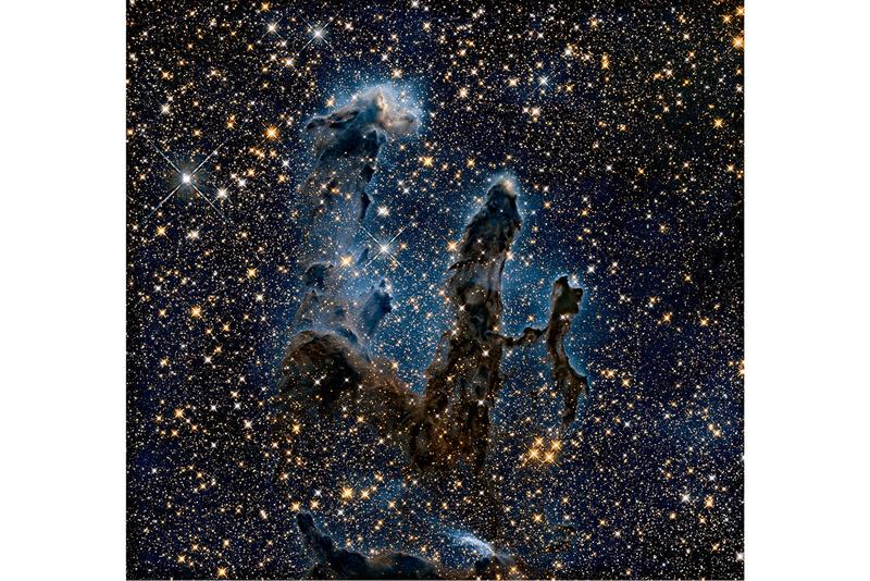 nasa pillars of creation new infrared image photography space hubble telescope