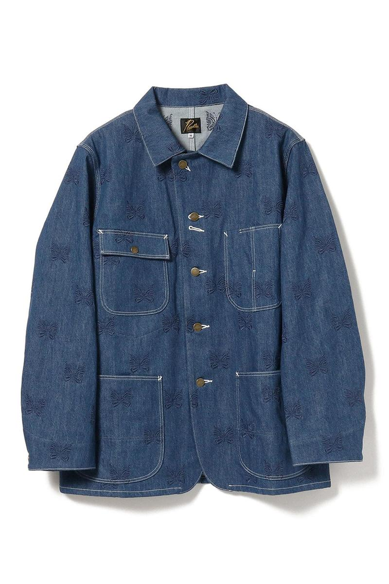 BEAMS x NEEDLES Spring/Summer 2020 Exclusive Items collection menswear boy womenswear denim pants jacket hat shirt tee sandals release date info buy ss20 jacket miles butterfly logo track pants
