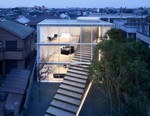 A Massive Stairway Cuts Through Minimalist House in Tokyo