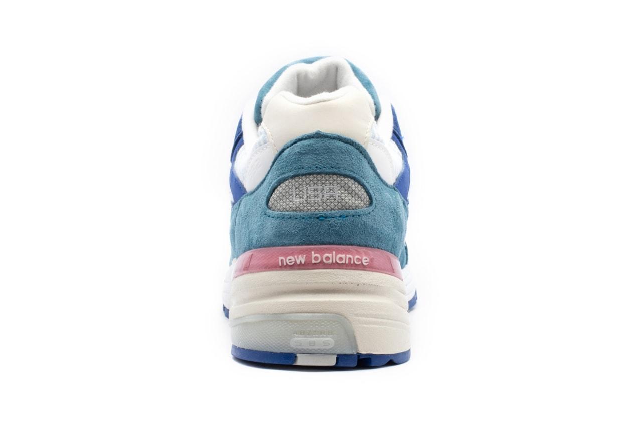new balance 992 pink navy blue cyan release date info photos price