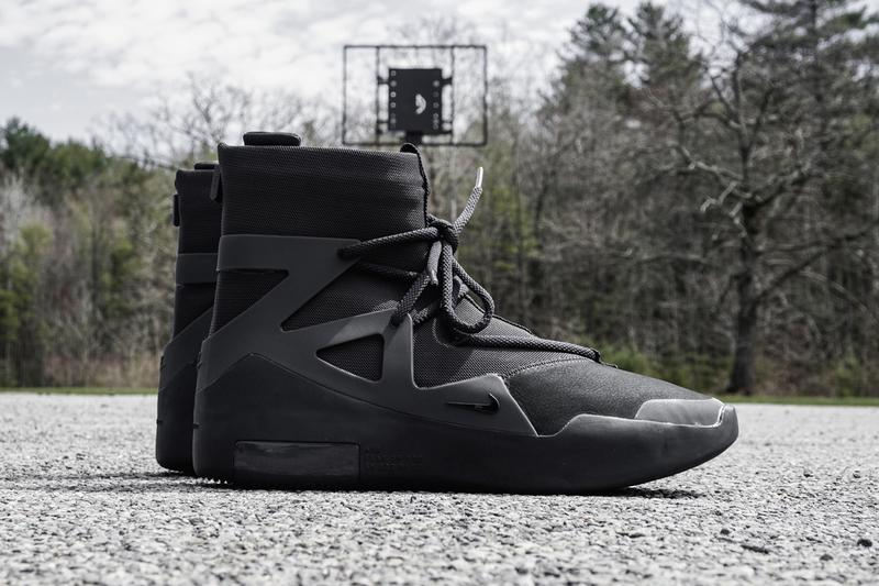 nike air fear of god 1 noir detailed closer official look triple black jerry lorenzo fog ar4237 005 release date info photos price