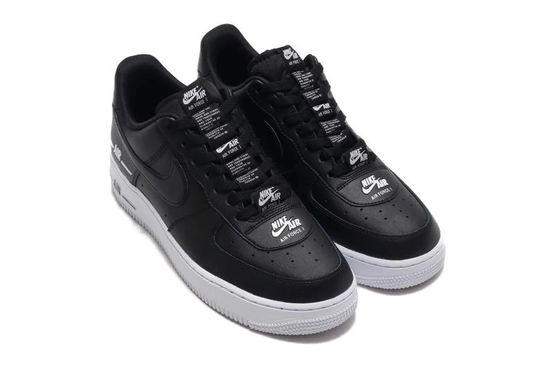 Nike Air Force 1 07 LV8 3 Black White menswear streetwear spring summer 2020 collection footwear shoes sneakers trainers runners swoosh kicks cj1379 001 af1