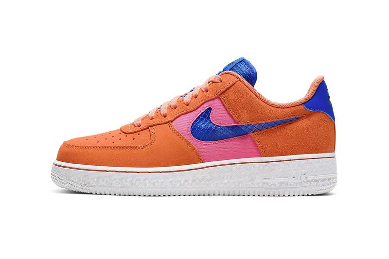 "Nike Air Force 1 '07 LV8 ""Orange Trance"" Release Info Color: Orange Trance/Lotus Pink/White/Pacific Blue Style Code: CW7300-800 low drop date price details"