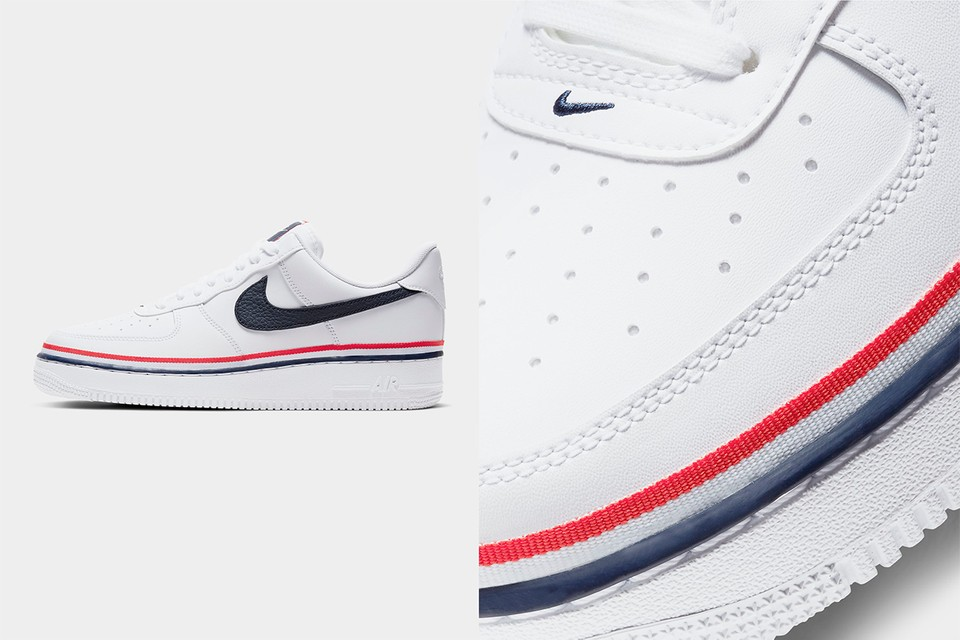 Nike Drops Preppy Tricolor Striped Air Force 1 07 Lv8 Hypebeast