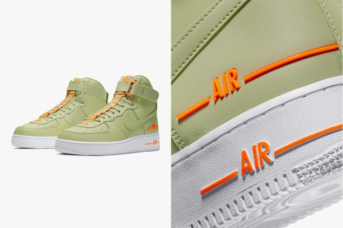 Nike Air Force 1 High '07 LV8 3 Presented in Olive and Orange Tints