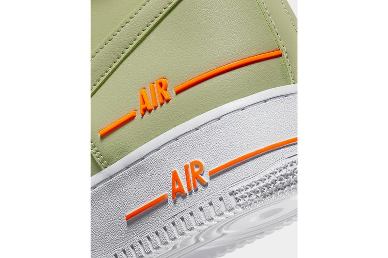 nike air force 1 high 07 lv8 3 olive aura total orange CJ1385 300 release date info photos price