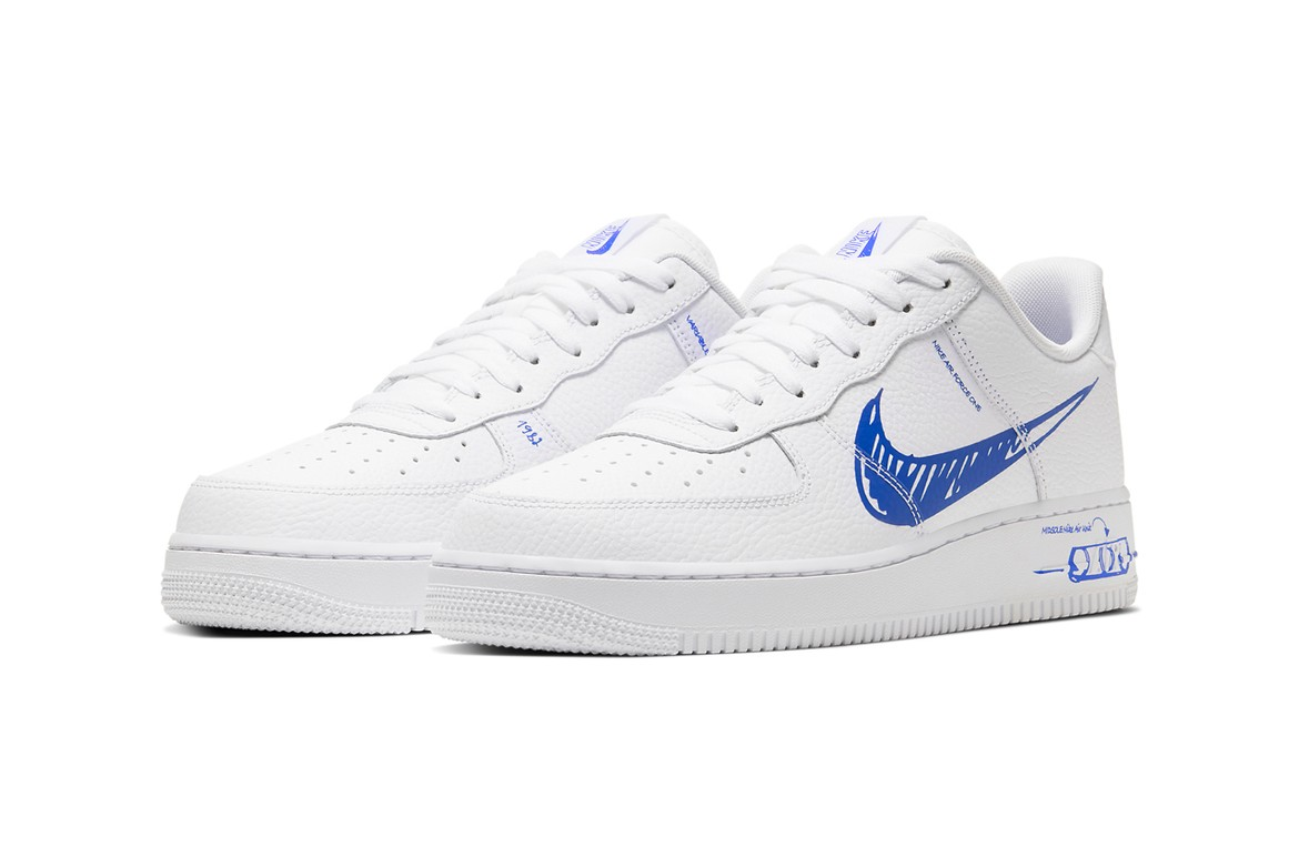 Nike Air Force 1 Low Sketch White Racer Blue Hypebeast 4.3 out of 5 stars 11 ratings. nike air force 1 low sketch white