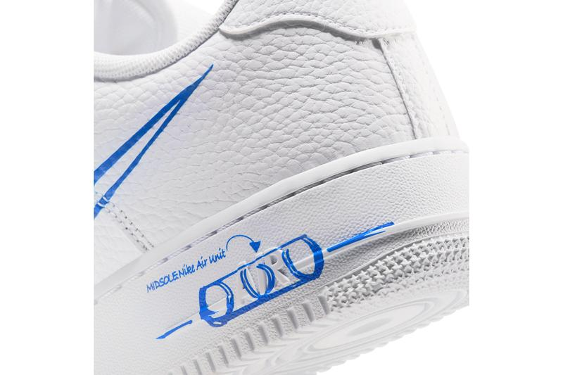 nike air force 1 low sketch white racer blue CW7581 100 release date info photos price