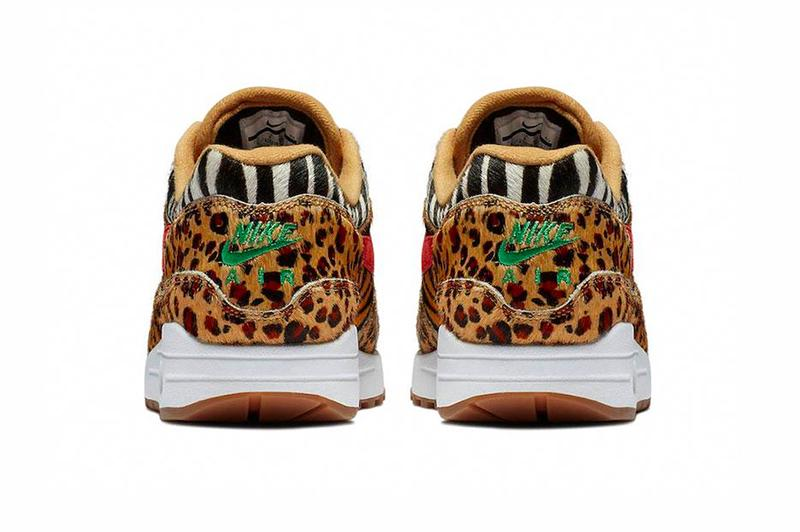 Nike Air Max 1 DLX Animal Pack 2.0 Afew Release info AQ0928-700 Wheat Sport Red Bison Classic Green