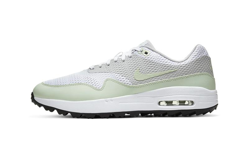 Nike Air Max 1 G white jade Aura neutral gray black menswear streetwear shoes sneakers kicks footwear trainers runners golf golfing spring summer 2020 collection CI7576 111 swoosh