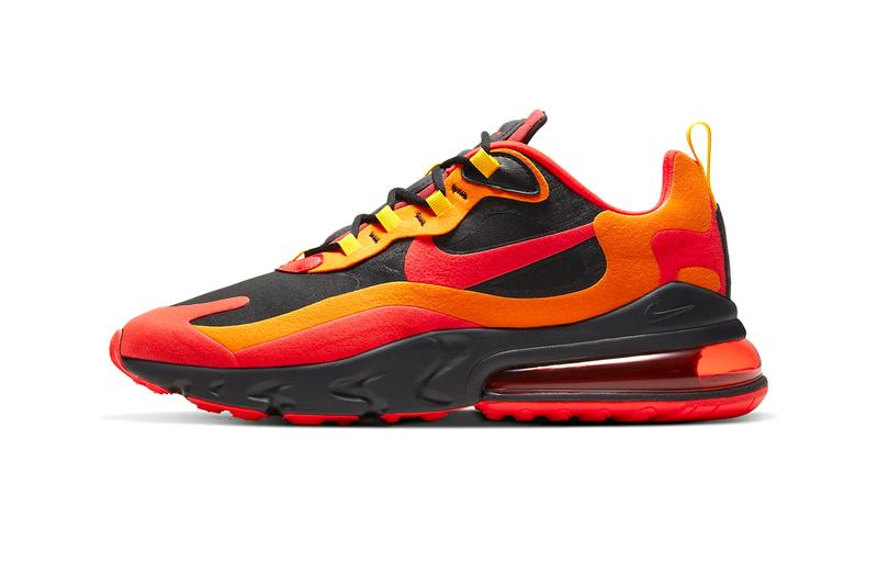 Nike Air Max 270 React Magma Release CZ9267-001 Black Speed Yellow Chile Red