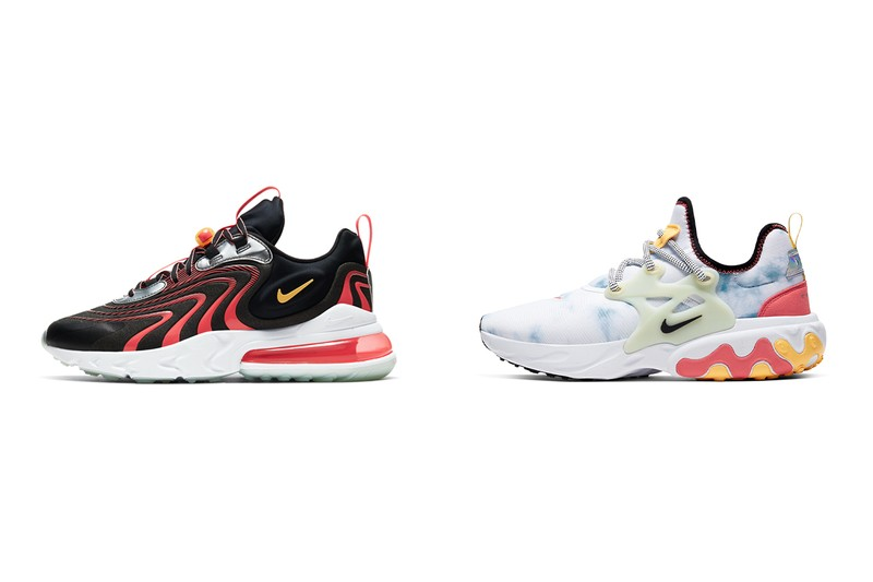 """Nike Air Max 270 React ENG and React Presto """"Alien"""" Descend From the Cosmos"""