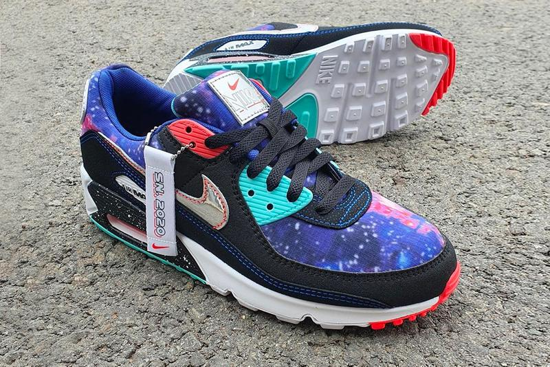 """Nike Air Max 90 Gets the """"Galaxy"""" Treatment AM90  Color: Black/White/Multi-Color Style Code: CW6018-001 release info drop date price details"""
