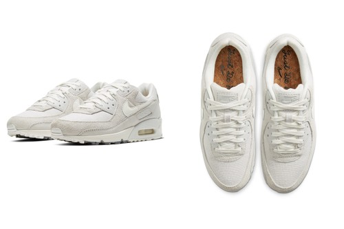"Nike Air Max 90 ""Summit White"" Offers Linen Uppers and Cork Insoles"