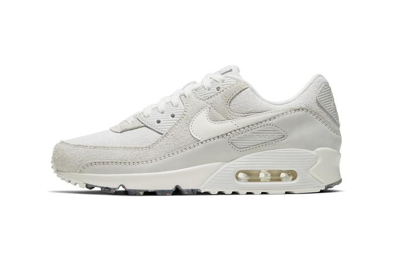 Nike Air Max 90 summit white platinum tint sail cork insoles linen CW6208 111 release date info photos price