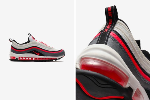 "Nike's Air Max 97 Receives Clean ""White/Laser Crimson"" Colorway"