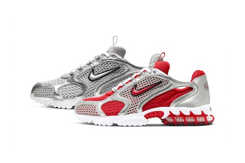 """Nike's Air Zoom Spiridon Cage 2 in """"Track Red"""" and """"Smoke Grey"""" Get a Closer Look"""