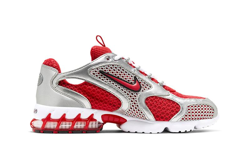 nike air zoom spiridon cage 2 track red smoke grey release information end clothing buy cop purchase stussy CJ1288-001 CJ1288-600