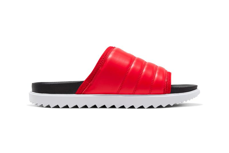 nike asuna slide sandal black white anthracite university red release date info photos price
