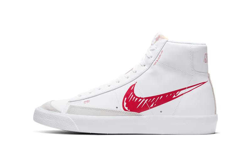 nike blazer mid 77 vintage red sketch white CW7580 100 release date info photos price