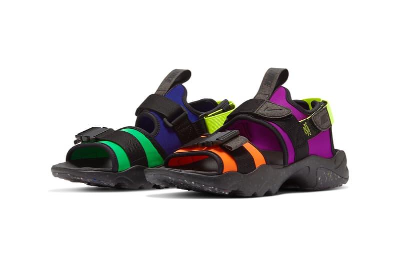 Nike Canyon sandal Multi Color CW6210 074 black concord purple orange green spark volt blue release date info photos price